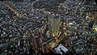 C4D模型-C4D夜晚城市夜景三维模型含材质贴图