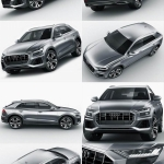 C4D MAX FBX OBJ汽车SUV城市越野带材质贴图设计参考三维模型