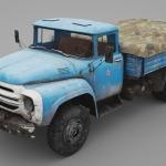C4D模型-C4D货车模型交通运输三维模型含材质贴图